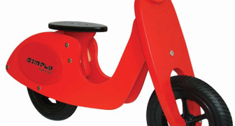 Houten loopscooter rood Simply for Kids
