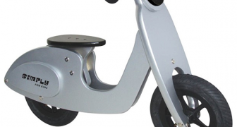 Houten loopscooter zilver Simply for Kids